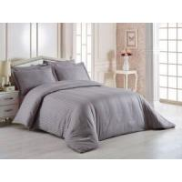 China Comfortable Hotel Bed Linen , 400T 3cm Satin Stripe 100% Cotton Bedding Sets wholesale
