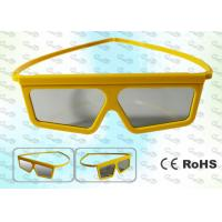 China 3D TV Yellow framed Circular polarized 3D glasses CP297GTS06 wholesale