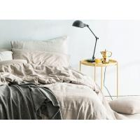 China Linen Cotton Dyed Plain Bedding Sets , 4Pcs Comforter Bedding Sets For Home wholesale