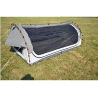 China Fire Prevention 2 Person Swag Tent , Canvas Camping Swag Tent Sun Shelter wholesale