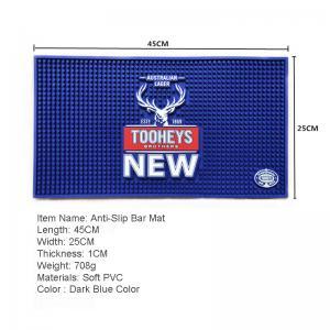 China 2019 hot advertisement gift bar accessories pvc bar mat/beer accessories flexible bar runner on sale