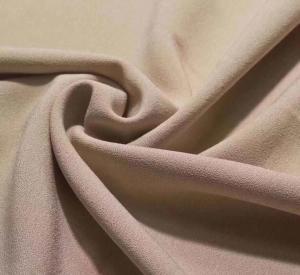 China 4 way stretch single side crepe lycra dress fabric 92/8 polyester lycra stretch one side brushed fleece design garment f wholesale