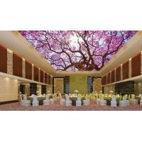China Waterproof Bamboo Fiber Lightweight Ceiling Panels Cherry Blossoms Crystal Surface wholesale