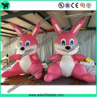 China Cute Pink Inflatable Rabbit,Giant Pink Inflatable Bunny, Party Inflatable Animal wholesale