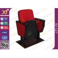 Buy cheap Cold Rolled Steel Leg PP Back & Seat  Auditorium Chairs With Soild Wood Armrest from wholesalers