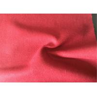 China Lovely Felted Wool Fabric Red Color , Wool Blend Suiting Fabric 55g/M wholesale