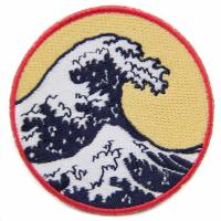 Woven Embroidery Designs Patches For Clothing Shirt , Cool Velcro Patches