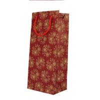 Portative cheap wine paper bag packaging for one bottle