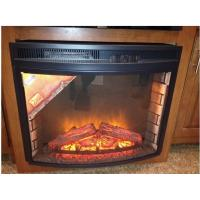 """China 30""""  firebox top spot light  flame curved insert electric fireplace with trim EF-30D wholesale"""