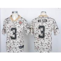China Nike NFL Seattle Seahawks 3# Wilson Camo elite jersey wholesale