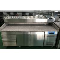 China 2 Door and 6 Drawer Commercial Refrigerated Pizza Prep Table With Marble Table Top wholesale