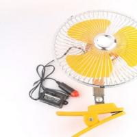 China Yellow Electric Cooling Fans For Cars Back Guard With 8 Inch Oscillating wholesale