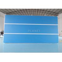 China Blue 6x3x0.2m Inflatable Air Track For Swimming Pool Floating Mat wholesale