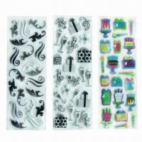 China Puffy stickers/foam stickers, eco-friendly material, used for decoration/promotional/advertisement wholesale