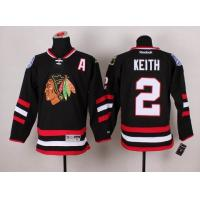 China 2014 Stadium Series Chicago Blackhawks 2 Keith black jersey A patch wholesale