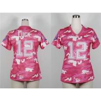 China $18usd 2013 Nike Indianapolis Colts 12 Andrew Luck Women's Fashion Jersey New Pink Camo wholesale