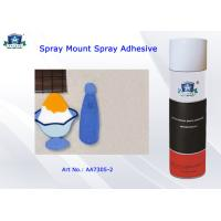 China Repositional Spray Mount Adhesive for Paper / Plastic / light Metal or light Glass Material wholesale