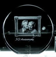 China Crystal Gift Engraved / Wedding Anniversary Gift on sale