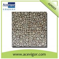 China Irregular arrange wood wall tile with beautiful vision for indoor decoration wholesale