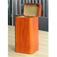 China Handmade Wood Jewelry Boxes For Women Large Storage Case , Orange Color wholesale