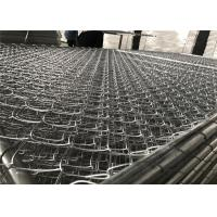 China 8'x12' chain link fence panels 1⅝(42mm) chain mesh 50mm x 50mm diameter 11.5ga/2.75mm hot dipped galvanized 366gram/sqm on sale