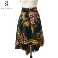 China High Waisted African Pattern Print Skirts And Blouses For Summer / Autumn wholesale