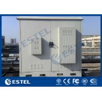 China Two Bay Galvanized Steel Outdoor Telecom Cabinets Floor Mounting PEF Heat Insulation wholesale