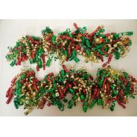 Quality Red , Green , White Color Combinations Curling Ribbon Bow , PP Metallic curled ribbon for sale