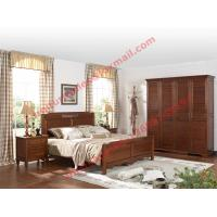 China English Country Style Solid Wood Bed in Wooden Bedroom Furniture sets wholesale