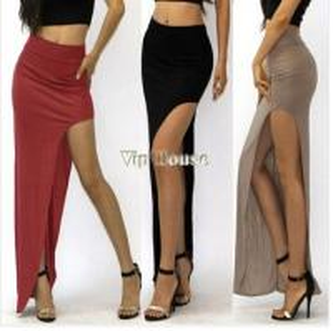 China Fashion Summer Sexy Women Long Skirts Lady Open Side Split Skirt Long Maxi Skirt wholesale