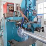 China Dewatering Welded Bar Wedge Wire Drum Screen Machine , Wire Mesh Manufacturing Machine wholesale