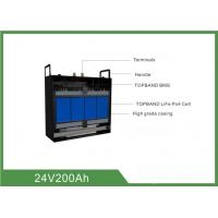 China High Consistency Rechargeable Lifepo4 Battery 24V 200AH With BMS wholesale
