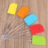 China Angled Small Cookie Silicone Spoon Spatula Cooking Tool Practical wholesale