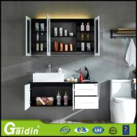 China Bath Mirror Type and Solid Wood Door panel bathroom cabinet wholesale