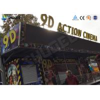 China 12 / 16 / 24 People 9D Movie Theater With Motion Chair For Amusement Park wholesale