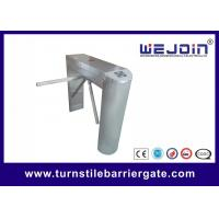 Buy cheap waist high 304 stainless steel rfid access control motorized tripod turnstile barrier gate manufacturer from wholesalers