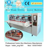 China Vertical Paper Slitting Carton Cutting Machine With For Pressing / Folding on sale