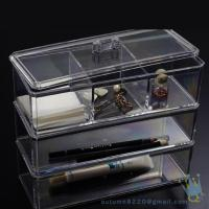China acrylic clear cube makeup organizer wholesale