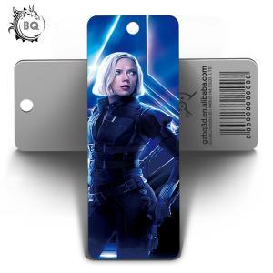 China Marvel Heros Design PET 3D Lenticular Bookmark 0.6mm PET+157g Coated Paper wholesale