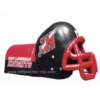 China Adults Inflatable Sports Games Football Team Inflatable Football Helmet Tunnel wholesale