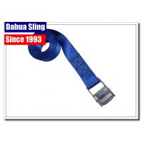 China Durable Cam Lock Tie Downs , Canoe Tie Down Straps With Zinc Plated Buckle wholesale