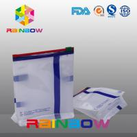 China Custom Size White Qual Seal Flat Bottom Gusset Pouch With Slide Ziplock For Food Packaging wholesale