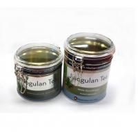 Bulk round tea tins with clear window