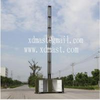 China 15m telescoping antenna masts tower and mobile telecom antenna tower mast in shelter wholesale