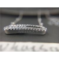 China Customized White Gold Necklace Chain With Diamonds , White Gold Pendant Necklace on sale