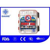 China Hard Red Case Portable First Aid Kit 326 Pieces Exceeds OSHA and ANSI with Wall Amounted wholesale