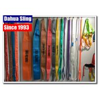 China Single / Double Ply Rock Lifting Sling , Purple Webbing Lifting Slings Safety wholesale