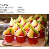 China Food Grade Red 140ml Plastic Packing Container Disposable Ice Cream Bowls wholesale
