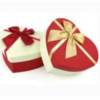 China Heart Shaped Christmas Paper Gift Boxes , Decorative Christmas Present Boxes wholesale