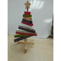 China Mini Christmas Wooden Tree ,  Artistic Wood Crafts Colorized 180 X 250 X 20mm wholesale